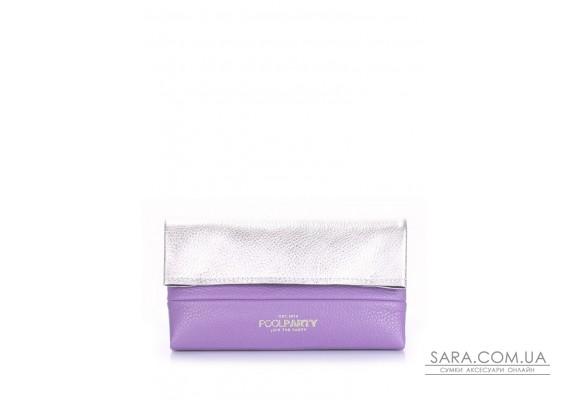 Шкіряна сумочка-клатч POOLPARTY 2NITE (pool-2nite-silver-violet)