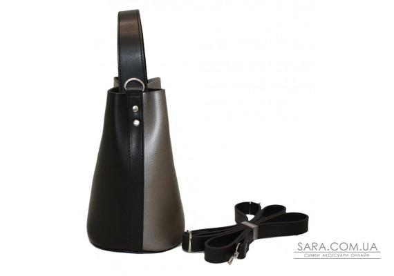 516 сумка чорна срібло Lucherino
