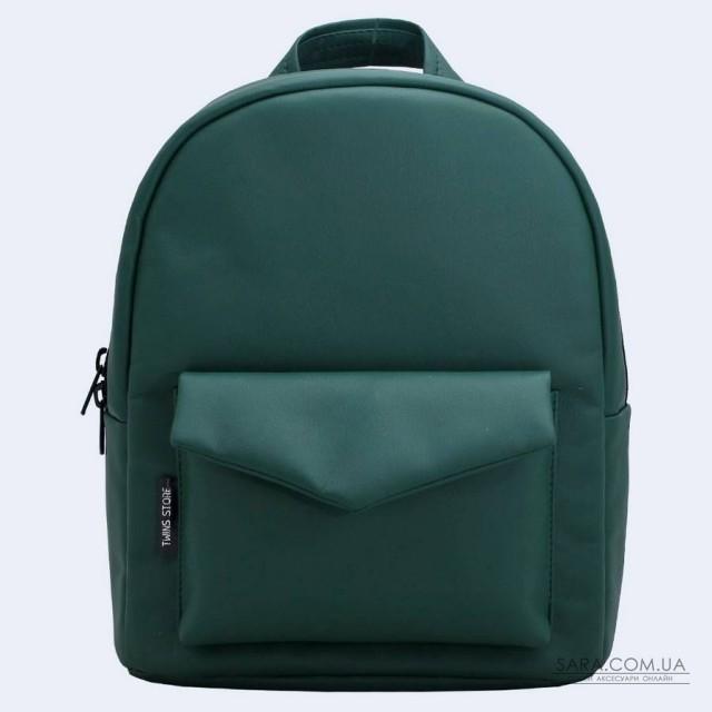 4d7d62498ce5 Купить Зеленый кожаный (эко) рюкзак TwinsStore от производителя ...