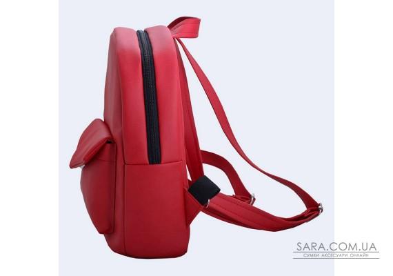 Чорний шкіряний (еко) рюкзак small TwinsStore