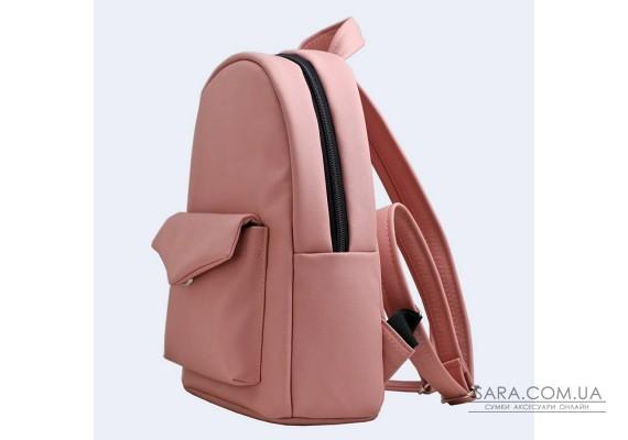 Червоний шкіряний (еко) рюкзак small TwinsStore