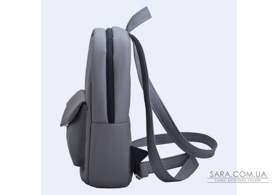 Темно-сірий шкіряний (еко) рюкзак TwinsStore