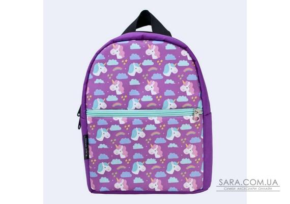 Дитячий фіолетовий рюкзак з єдинорогом TwinsStore
