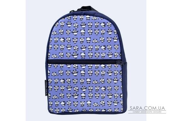 Дитячий синій рюкзак з пандами TwinsStore