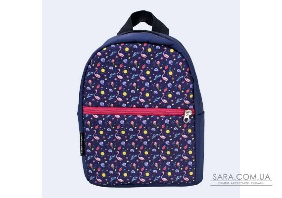 Дитячий синій рюкзак з фламінго TwinsStore