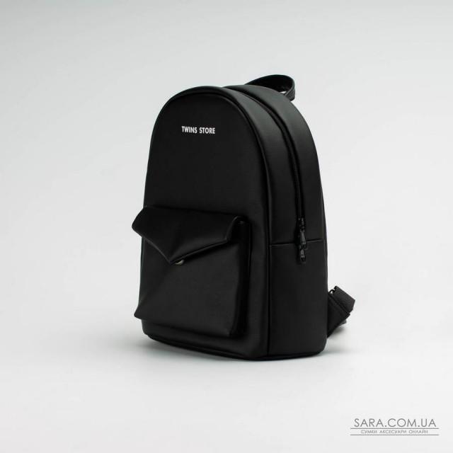 024d69f9d82e Купить Черный кожаный (эко) рюкзак TwinsStore от производителя ...