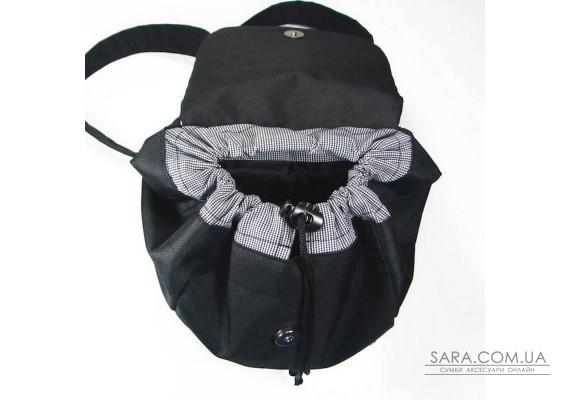 Чорна сумка шоппер TwinsStore