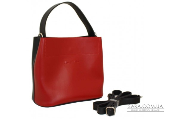 516 сумка чорно червона Lucherino