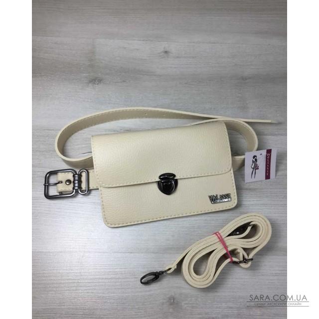 b34557435df0 Купить Женская сумка на пояс- клатч Арья бежевого цвета WeLassie ...