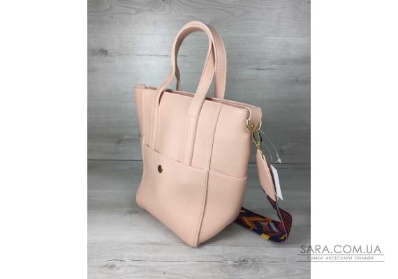 Молодіжна жіноча сумка Мілана пудра кольору WeLassie