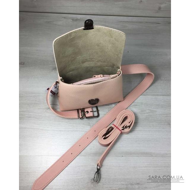 19278ca54eec Купить Женская сумка на пояс- клатч Белла пудрового цвета WeLassie ...
