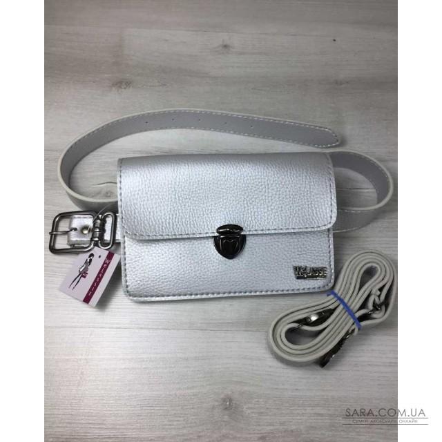 Купити Жіноча сумка на пояс - клатч Арья срібного кольору WeLassie ... eb095df6a7ada