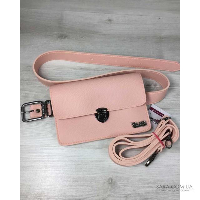 5f54764e310d Купить Женская сумка на пояс- клатч Арья пудрового цвета WeLassie ...