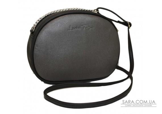 527 сумка черная серебро Lucherino