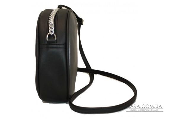 527 сумка чорна срібло Lucherino