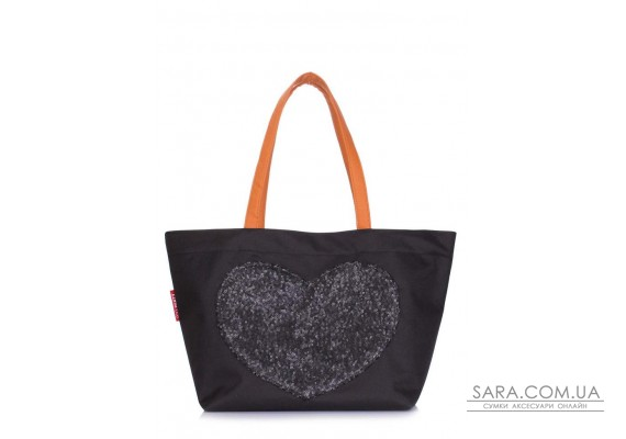 Сумка з глітером POOLPARTY Lovetote (pool-lovetote-oxford-black)
