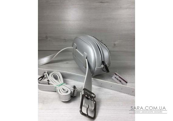 Жіноча сумка на пояс - клатч WeLassie срібного кольору Паєтки срібло-срібло WeLassie
