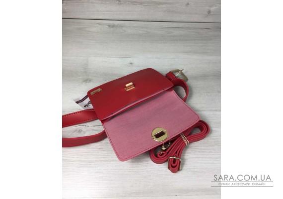 Жіноча сумка на пояс - клатч Арья червоного кольору WeLassie