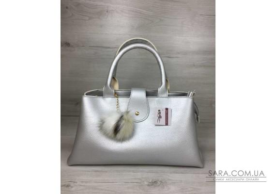 """Молодіжна сумка """"Альба"""" срібного кольору WeLassie"""