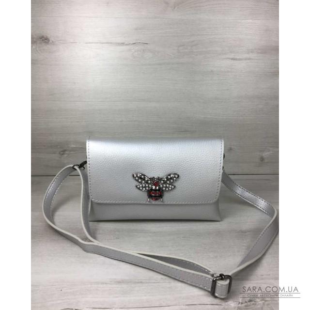 f89552701800 Женская сумка- клатч Келли серебряного цвета (никель) WeLassie дешево