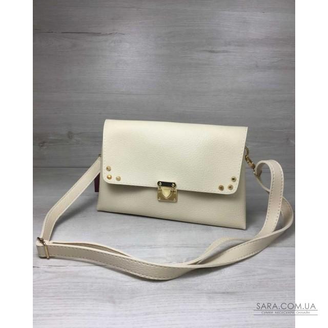 5e68d277a14e Купить Женская сумка- клатч Келли бежевого цвета WeLassie дешево от ...