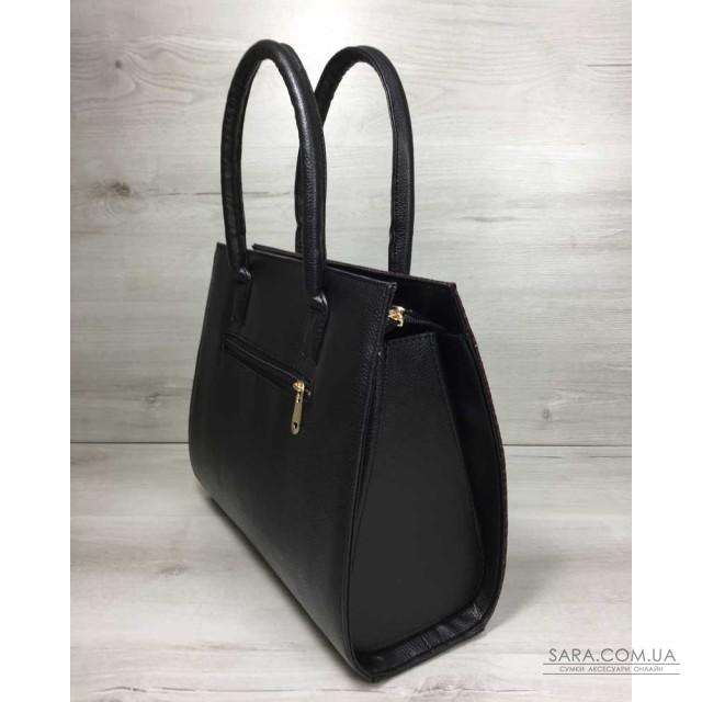 e50385dd1e84 Женская сумка Бочонок черного цвета со вставкой бордовая змея WeLassie  дешево