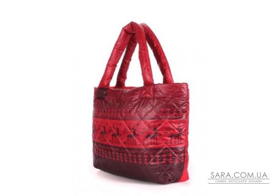 Дута сумка POOLPARTY з оленями (pool-pool-67-red)