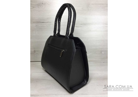 Жіноча сумка Конверт чорного кольору зі вставкою чорна кобра WeLassie