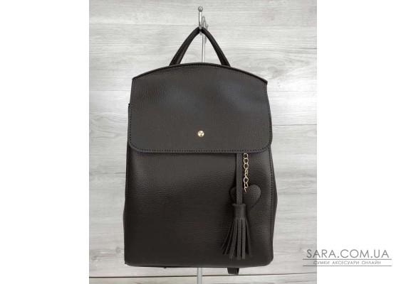 Молодіжний сумка-рюкзак Серце шоколадного кольору WeLassie