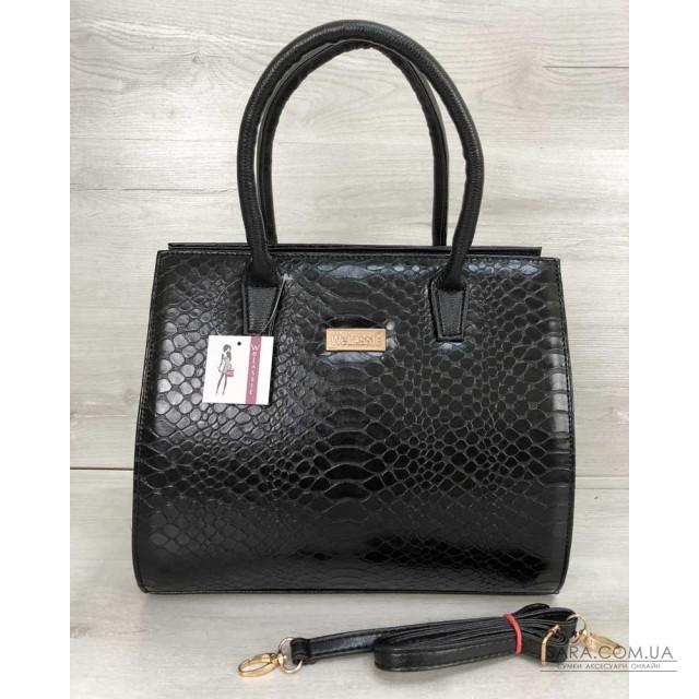 b1d5b070c0bb Купить Женская сумка Бочонок черная кобра WeLassie дешево от ...