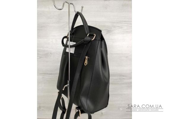 Молодіжний сумка-рюкзак Серце чорного кольору WeLassie