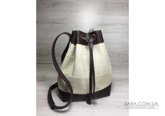 Молодіжний сумка-рюкзак Гумка бежевого кольору WeLassie