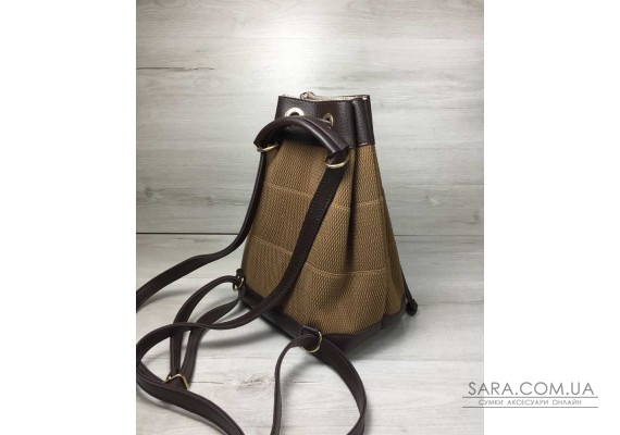 Молодіжний сумка-рюкзак Гумка кавового кольору WeLassie