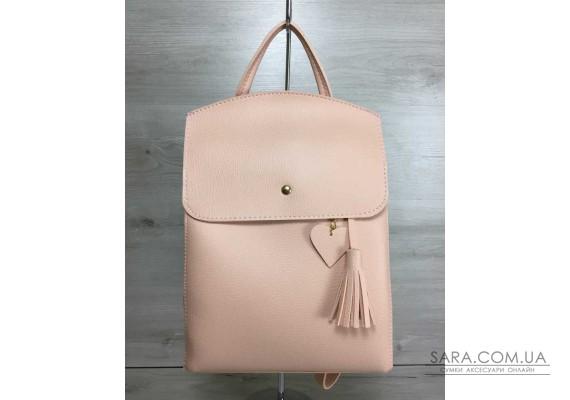 Молодіжний сумка-рюкзак Серце мерехтливої кольору WeLassie