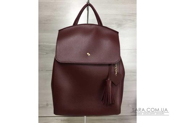 Молодіжний сумка-рюкзак Серце бордового кольору WeLassie