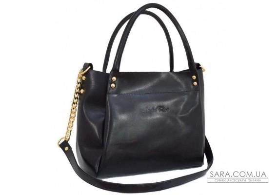 529 сумка екошкіра чорна з Lucherino