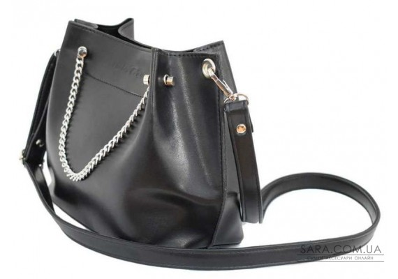 524 сумка екошкіра чорна Lucherino