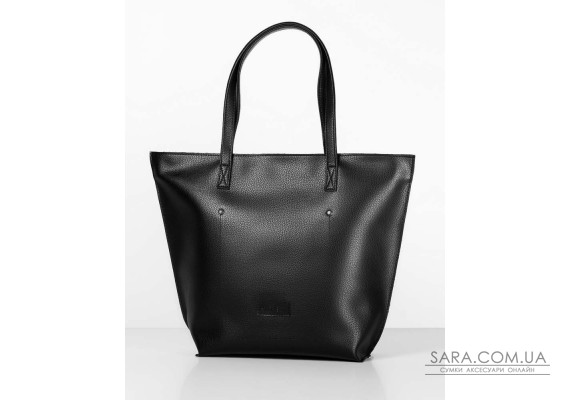 """Сумка """"shopper bag 02"""" black на блискавці"""