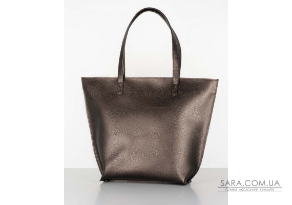 "Сумка ""shopper bag 02"" bronze на блискавці"