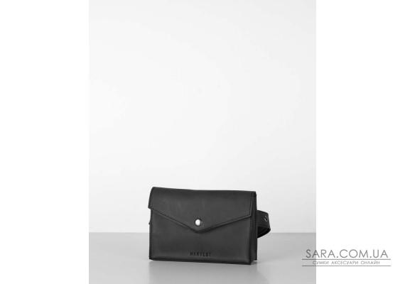 """сумка-конверт"" нубук, сірий"