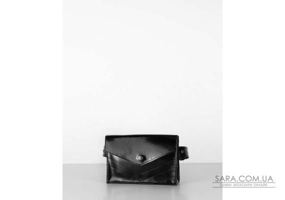 """""""сумка-конверт"""" лак, чорний"""