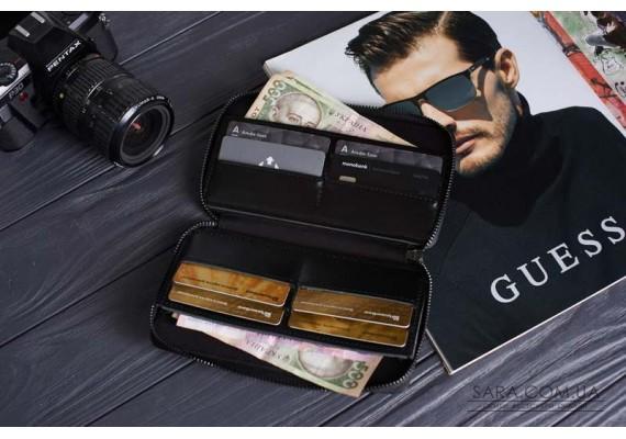 """""""Чоловічий гаманець на блискавці"""" BLACK"""