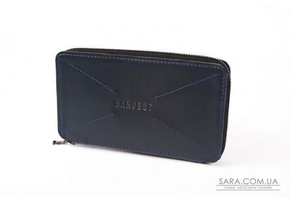 """""""Чоловічий гаманець на блискавці"""" BLUE"""