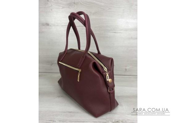 Жіноча сумка Ірен бордового кольору WeLassie