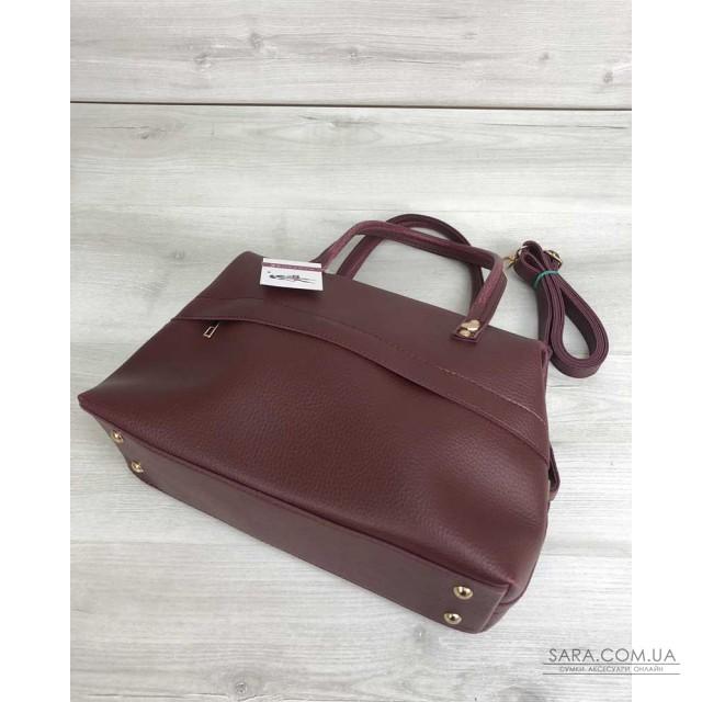 76121883aafb Купить Женская сумка Ирен бордового цвета WeLassie дешево от ...