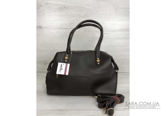 Жіноча сумка Ірен шоколадного кольору WeLassie
