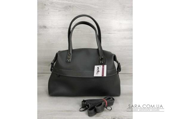 Жіноча сумка Ірен сірого кольору (нікель) WeLassie