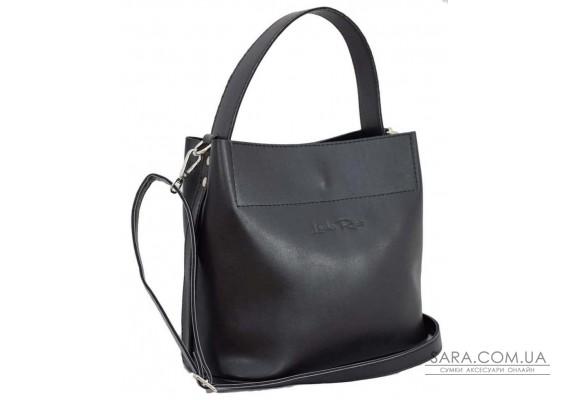516 сумка екошкіра чорна Lucherino