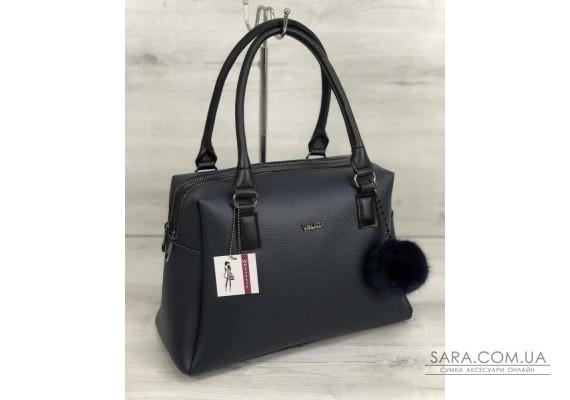 Жіноча сумка Агата синього кольору WeLassie
