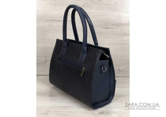 Каркасна жіноча сумка Селін з ланцюжком синього кольору WeLassie